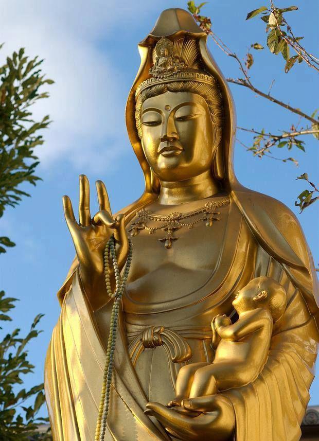 Jibo Kannon (慈母観音, Jibo means Loving Mother) ~ near Fushimi Inari Taisha, Kyoto