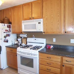Outdated Oak Kitchen Cabinets