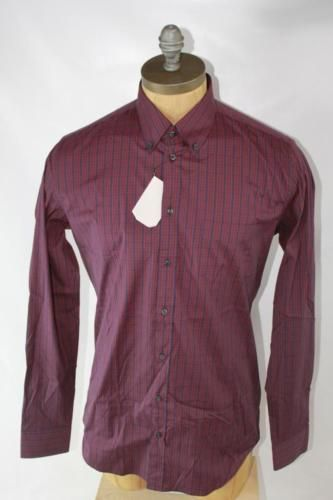 AUTH Gucci Men Classic Fit Shirt 16.5 42