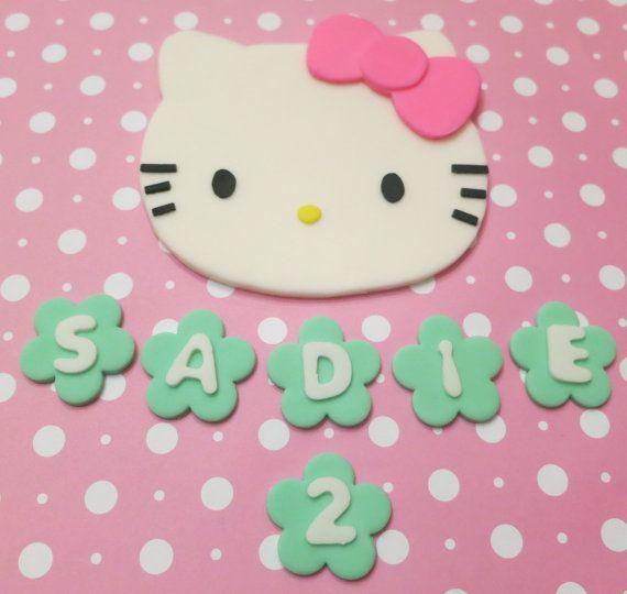 Decorating Ideas > Hello Kitty Fondant Cupcake Toppers ~ 082523_Fondant Cake Topper Ideas