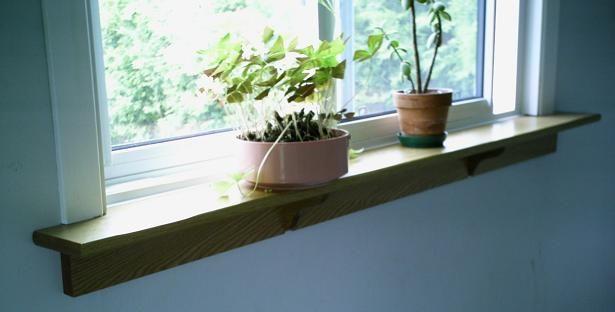 Windowsill shelf