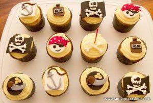 pirate cupcakes: Cupcakes Inspiration, Cupcakes Ideas, Pirates Theme Cupcakes, Pirates Parties, Cupcakes Toppers, Pirate Cupcake, Parties Ideas, Pirates Cupcakes, Cupcakes Rosa-Choqu