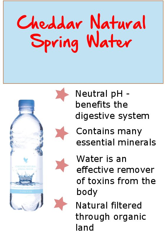 Your body requires the intake of minerals in order to remain healthy. Forever's Water is a source of natural minerals in colloidal solution for increased absorption.