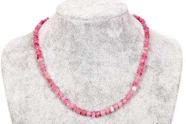 Бусы розовый турмалин