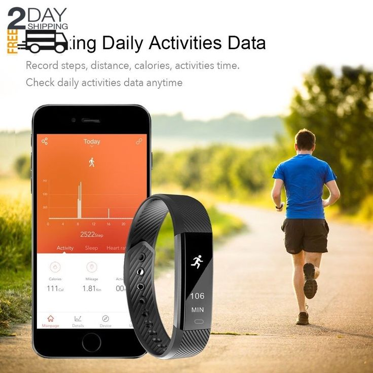 Fitness Tracker Watch As Fitbit Slim Touch Screen Android Ios Pedometer Monitor | eBay