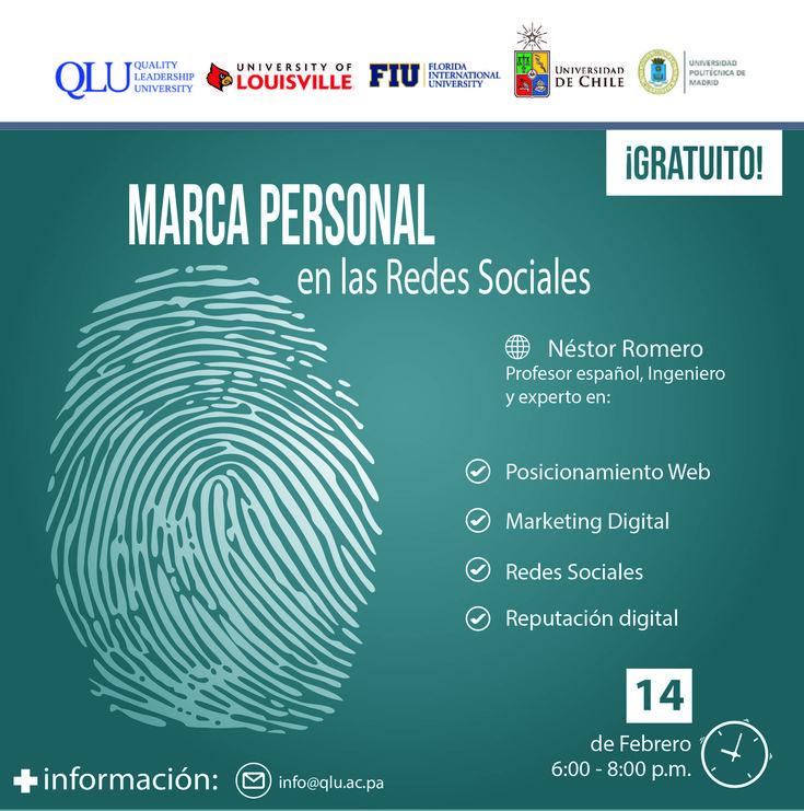 14 de febrero – Conferencia Gratuita: Marca Personal en las Redes Sociales – QLU