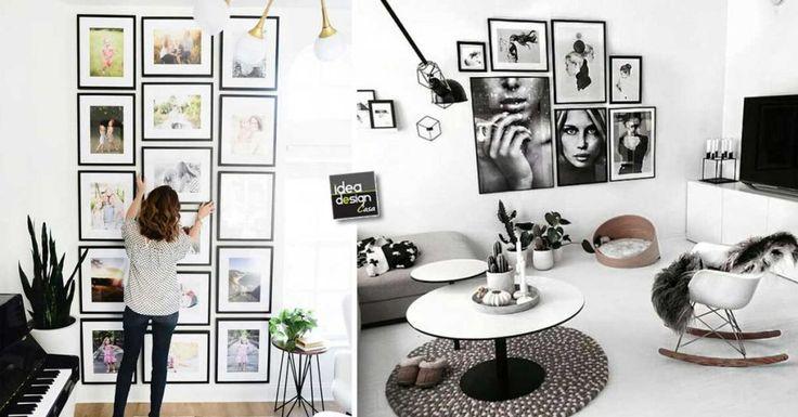 Eine Wand aus Gemälden, um Ihr Zuhause kreativ zu dekorieren! 15 originelle Ideen ..
