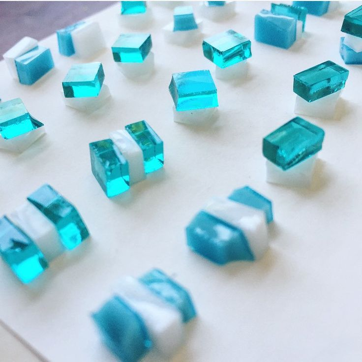 Aqua fused glass earrings, heading into the kiln.