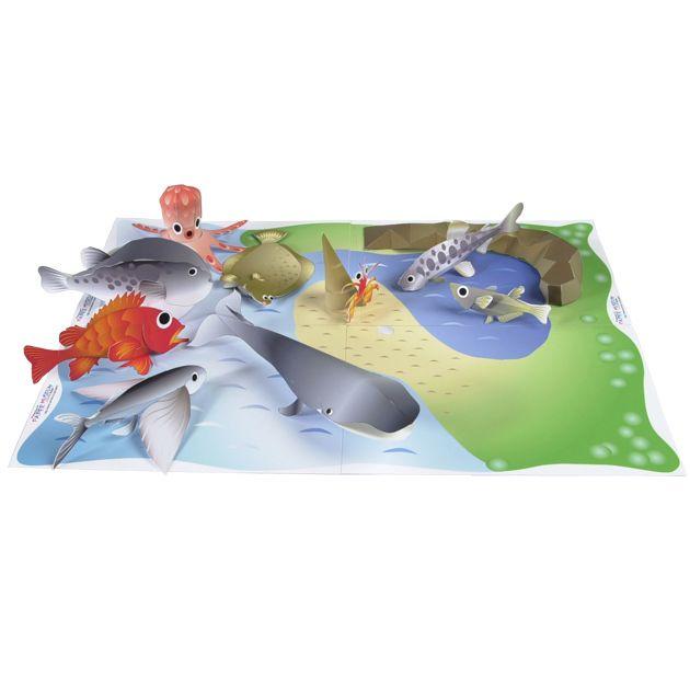 lv_fish:魚つりセット(くじら たこ ふぐ めばる めだか ヤドカリ カレイ やまめ トビウオ 釣り堀)