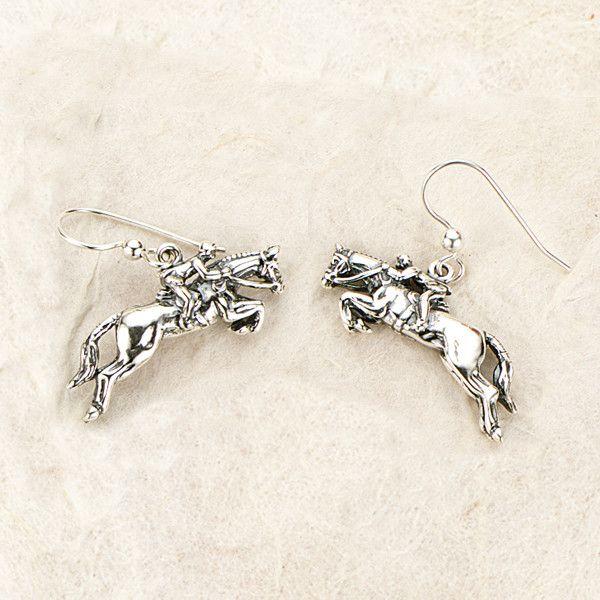 Jumper Earrings, Sterling Silver Jumper Earrings, Sterling Silver