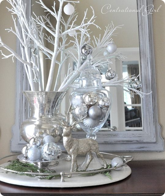 gorgeous...love all the silver  (www.centsationalgirl.com)