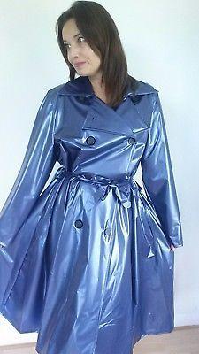 PU PVC Plastic Vinyl Raincoat Regenmantel Mac Size 3XL