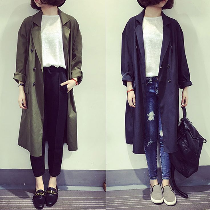 2017 Spring Trench Coat Women'S Loose Overcoat Double Breasted Suit Casual Ladies Long Coat Thin Trench Outerwear Tb01 Z20 #Affiliate
