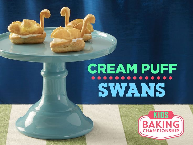 How to Make Cream Puff Swans — Kids Baking Championship : Get inspired by the show's baking challenge to create these unique pastries.