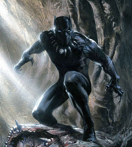 Black Panther T'Challa, the most famous hero to bear the ceremonial mantle of Black Panther, is king and protector of the technologically advanced (fictional) African kingdom of Wakanda. He's also the first black superhero in mainstream American comics, and spent his first appearance handing the Fantastic Four their asses as a test to see if they were worthy enough to help him, and mentions as an aside that he's the richest man in the world. He's an Avenger's mainstay, and basically Batman…