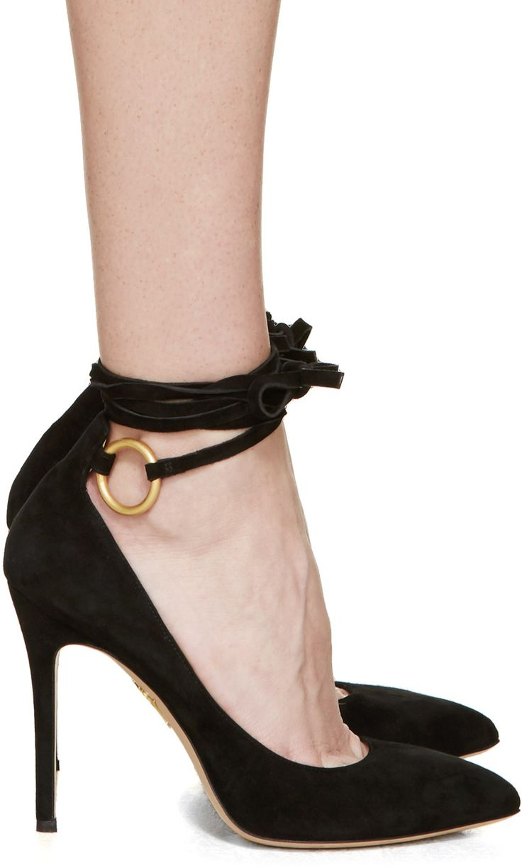 Charlotte Olympia Sabine suede pumps - $825 @ssense.com