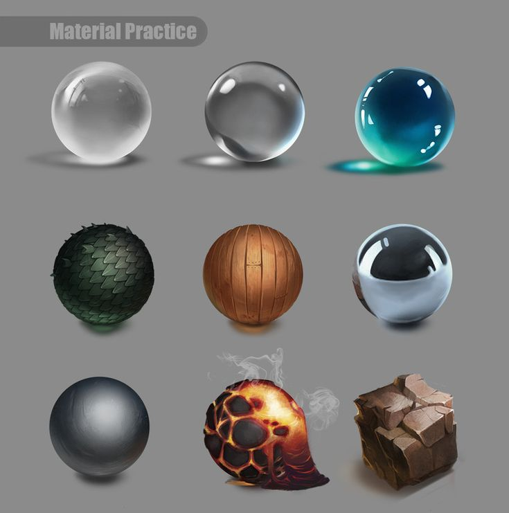 Some little material studies. Good fun!