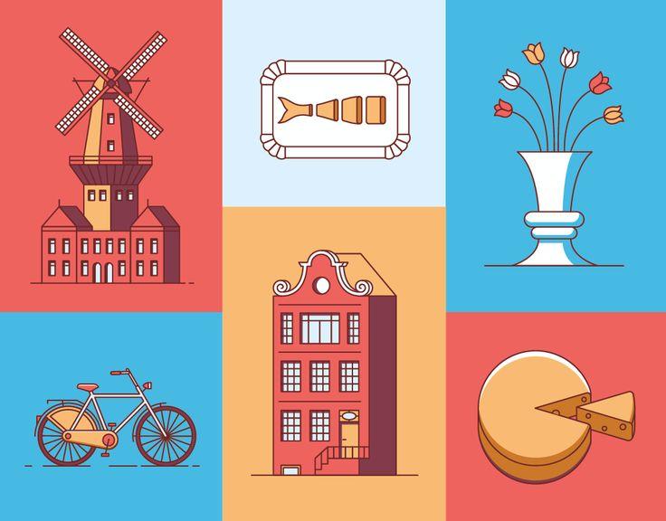 다음 @Behance 프로젝트 확인: \u201cAmsterdam Guide Book Icons\u201d https://www.behance.net/gallery/46696941/Amsterdam-Guide-Book-Icons