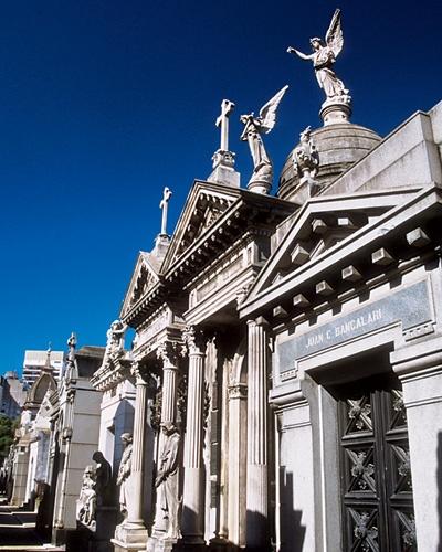 Mausoleums at Cementerio de la Recoleta.