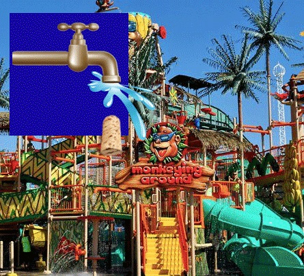 Cliff's Amusement Park Water Rides ~ WaterMania!
