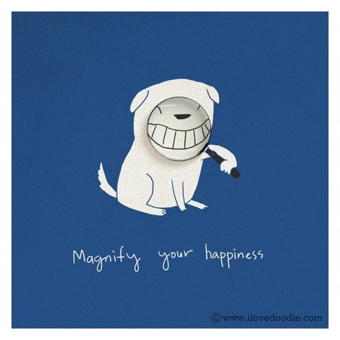 happiness: Magnifying, Quote, Heng Swee, Illustration, Art Prints, Funny, Lim Heng, Visual Art, Smile