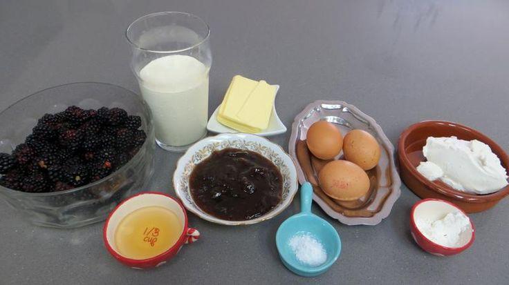 Ingrédients pour la recette : Crème glacée aux mûres et ricotta