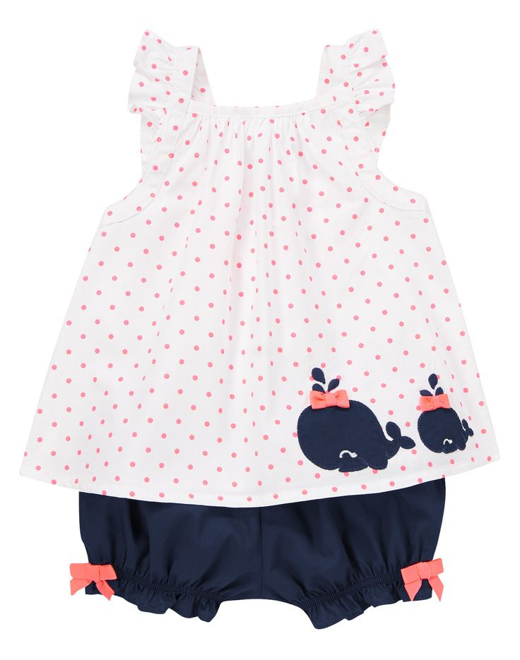 Dotty Whale Set at Gymboree. My 3rd daughter has way too many clothes, but this I could not resist...