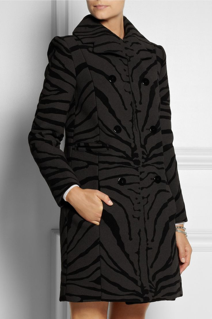Carven | Zebra-print wool-blend coat | NET-A-PORTER.COM