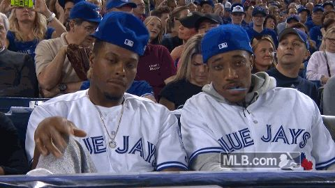 New trendy GIF/ Giphy. mlb baseball hello hi hey wave sup toronto blue jays alcs game 3 blue jays peace sign demar derozan what up lowry kyle lowry derozan. Let like/ repin/ follow @cutephonecases