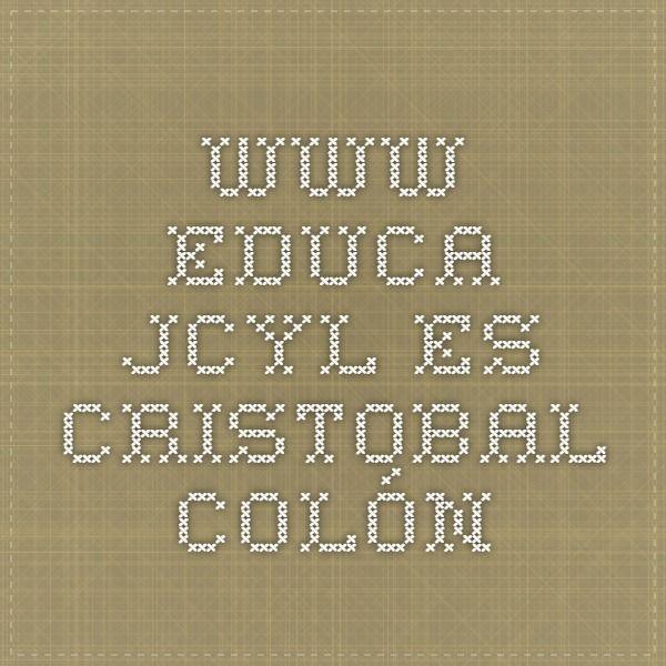 www.educa.jcyl.es Cristobal Colón