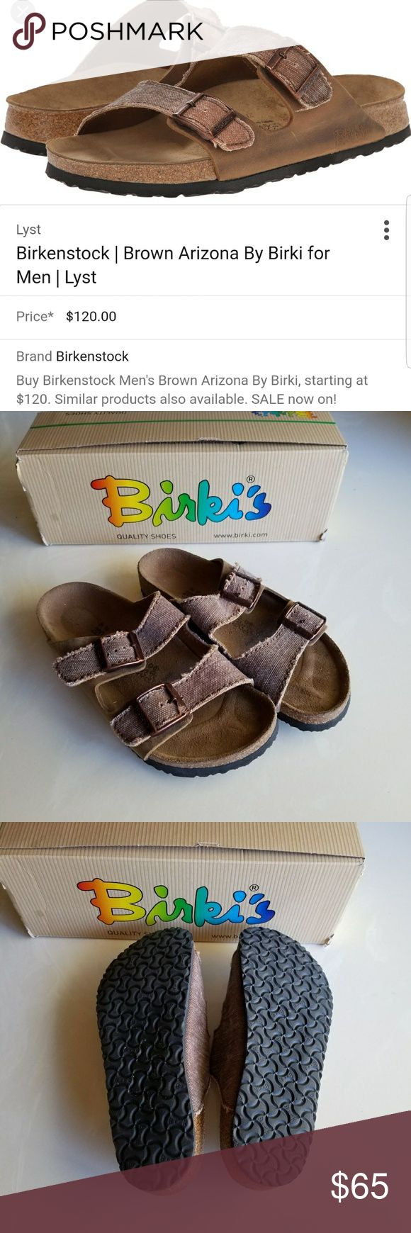 New Size 34 4(kids) 5 (woman) birki's birkenstock Unisex basically new distressed birki's.  Bought for my some from Birkenstock in Germany, can't return.  Doesnt fit him. He wore it once around house & to garage.  Brand new for men are$120. Birkenstock Shoes Sandals
