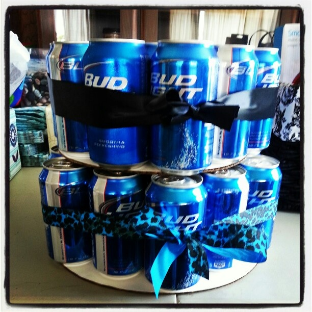 Two Layer Beer Cake!! Great Idea For A Guys Prize At A