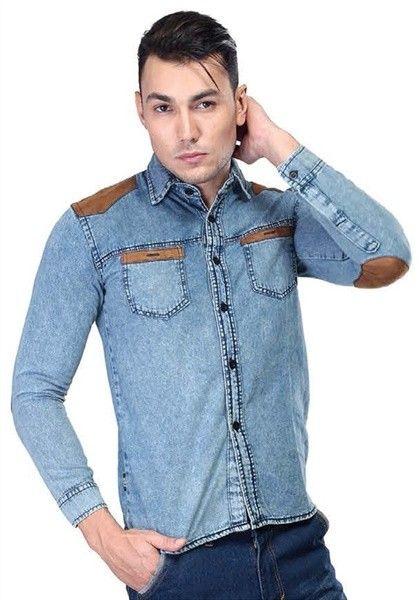 Inficlo Denim Shirt Light Blue