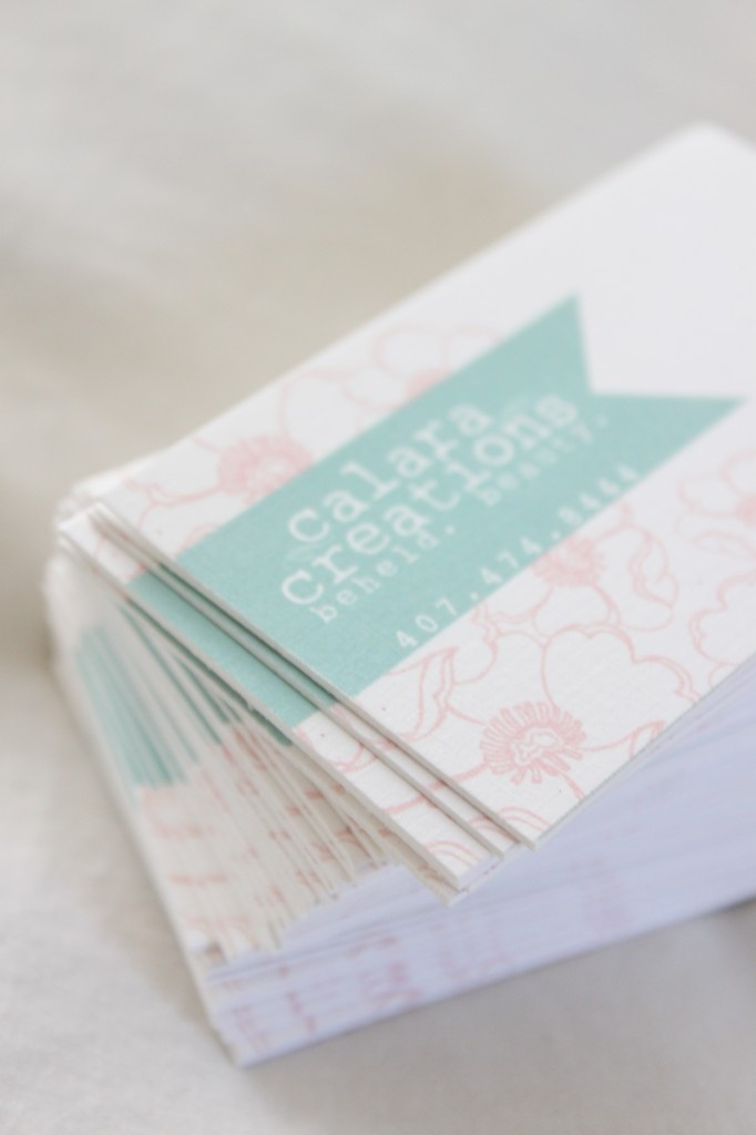 business cards and branding
