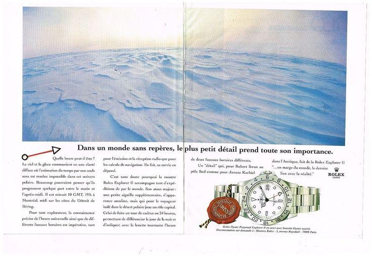 Publicité Advertising 1995 (2 pages) Montre Rolex Oyster Perpetual Explorer II