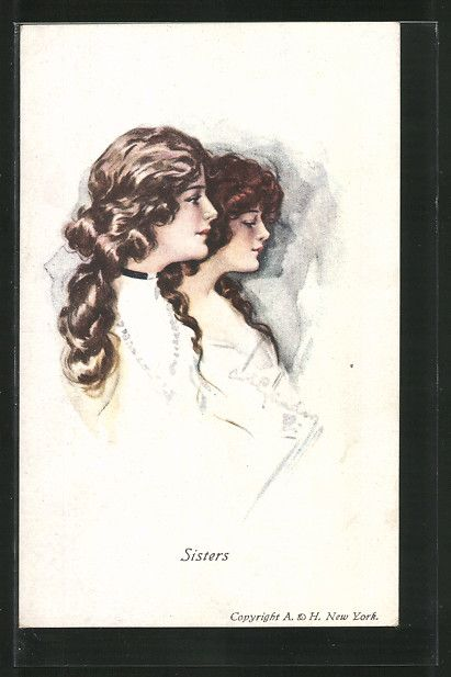 Ladies / Woman without hat   Ladies / Woman / Fashion   old Postcards