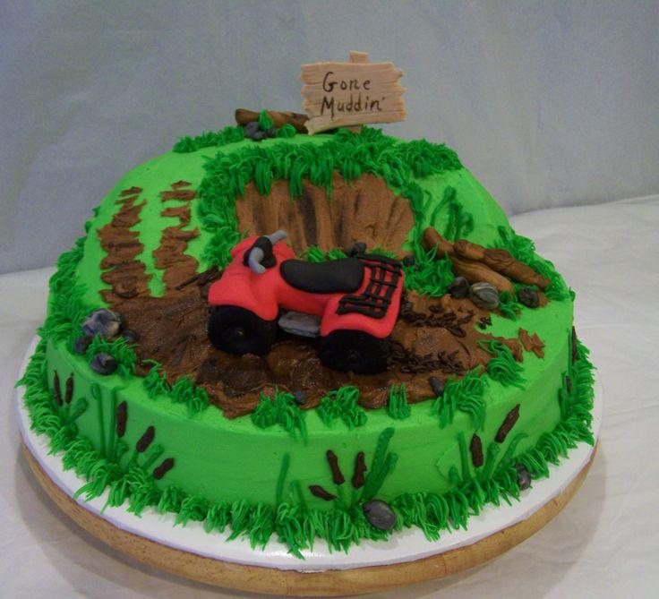fondant 4-wheeler mudding cake