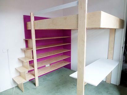 Double loftbed DIY By NeoEko & Bregje | Tweepersoonshoogslaper Ana zelf bouwen: Aangepaste versie door Bregje