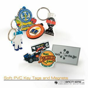"Soft pvc key tags and magnets (2 1/4"")Soft PVC, - show off your style with this custom shaped magnet or keytag"