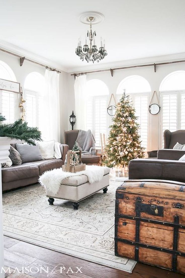 50 Lovely Christmas Living Room Decoration Part 61