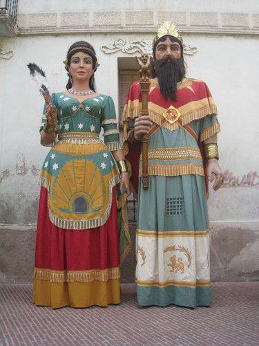Gegants de la Basilica de Santa Maria del Mar. Reina de Saba i Rei Salomó.