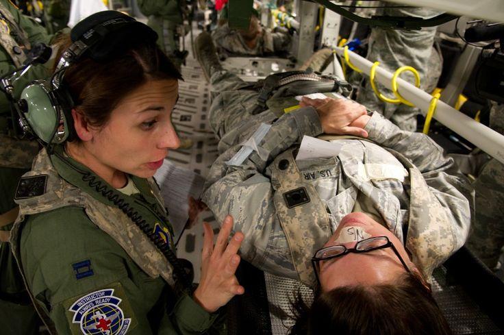US Air Force flight nurse.