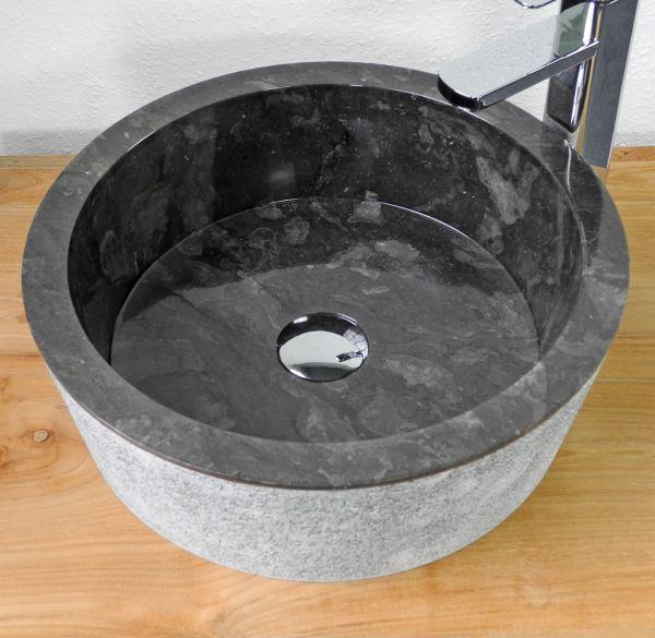 Sink Loyang Outside Alur Geret Color : Black Size: Ø 40 cm X H. 15 cm Ø 45 cm X H. 15 cm