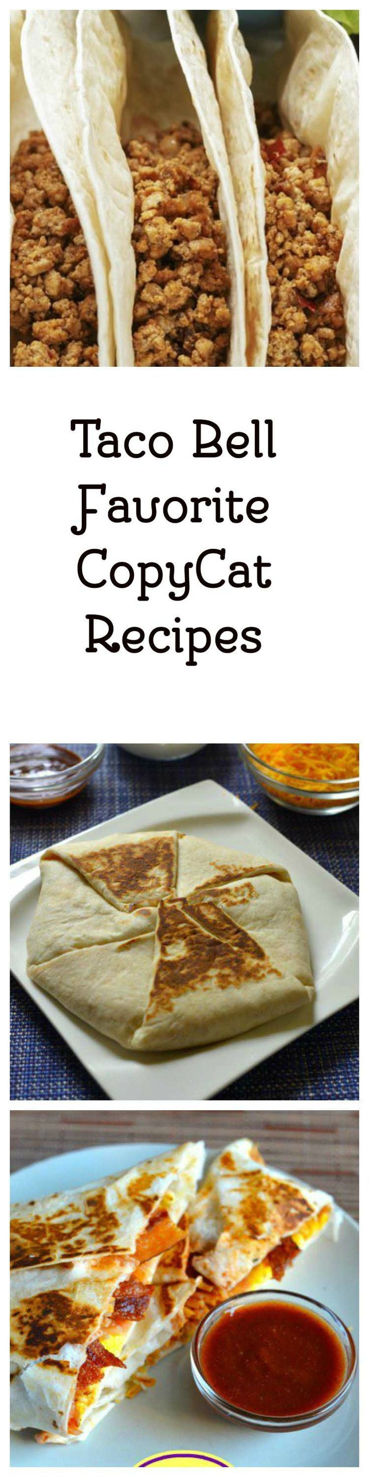 Enjoy these 10 Favorite Taco Bell copycat recipes.  Make their famous taco sauce at home with one of these recipes.