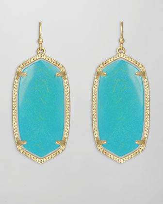 Elle Earrings, Turquoise by Kendra Scott at Neiman Marcus.
