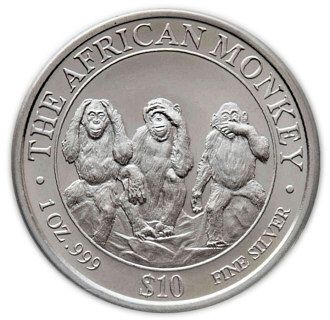 Somali coin with monkeys (2001)