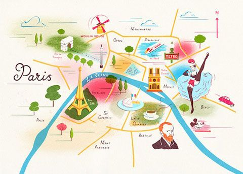 illustrated maps of major cities: Owen Gatley