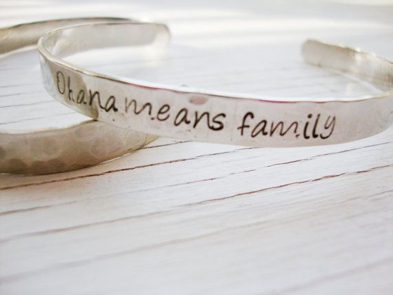 Ohana means family hand stamped inside and out by Lolasjewels, $18.00