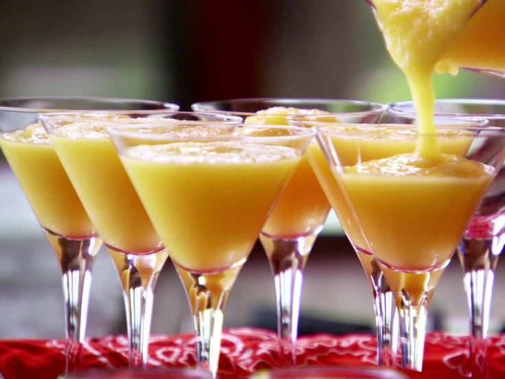Virgin Mango Margaritas from FoodNetwork.com - Pioneer woman  dip rims in lime juice and sugar to service
