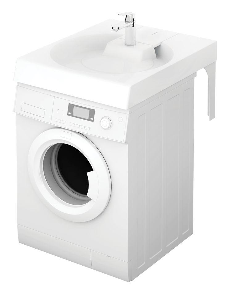 Le nouveau lavabo gain de place sur machine à laver arrive ! Pouvant être posé sur toutes les machines à laver standard !